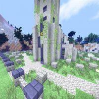 Crazy Craft Custom Terrain Structures Map for Minecraft PE