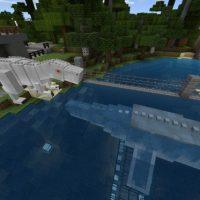 Jurassic World map for Minecraft PE