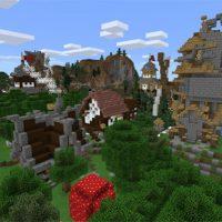 Castle map for Minecraft PE